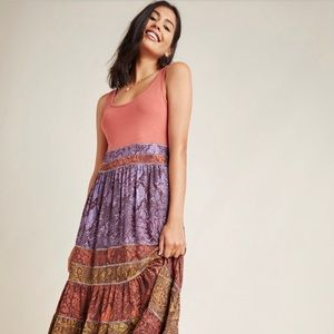 Anthropologie petite maxi dress